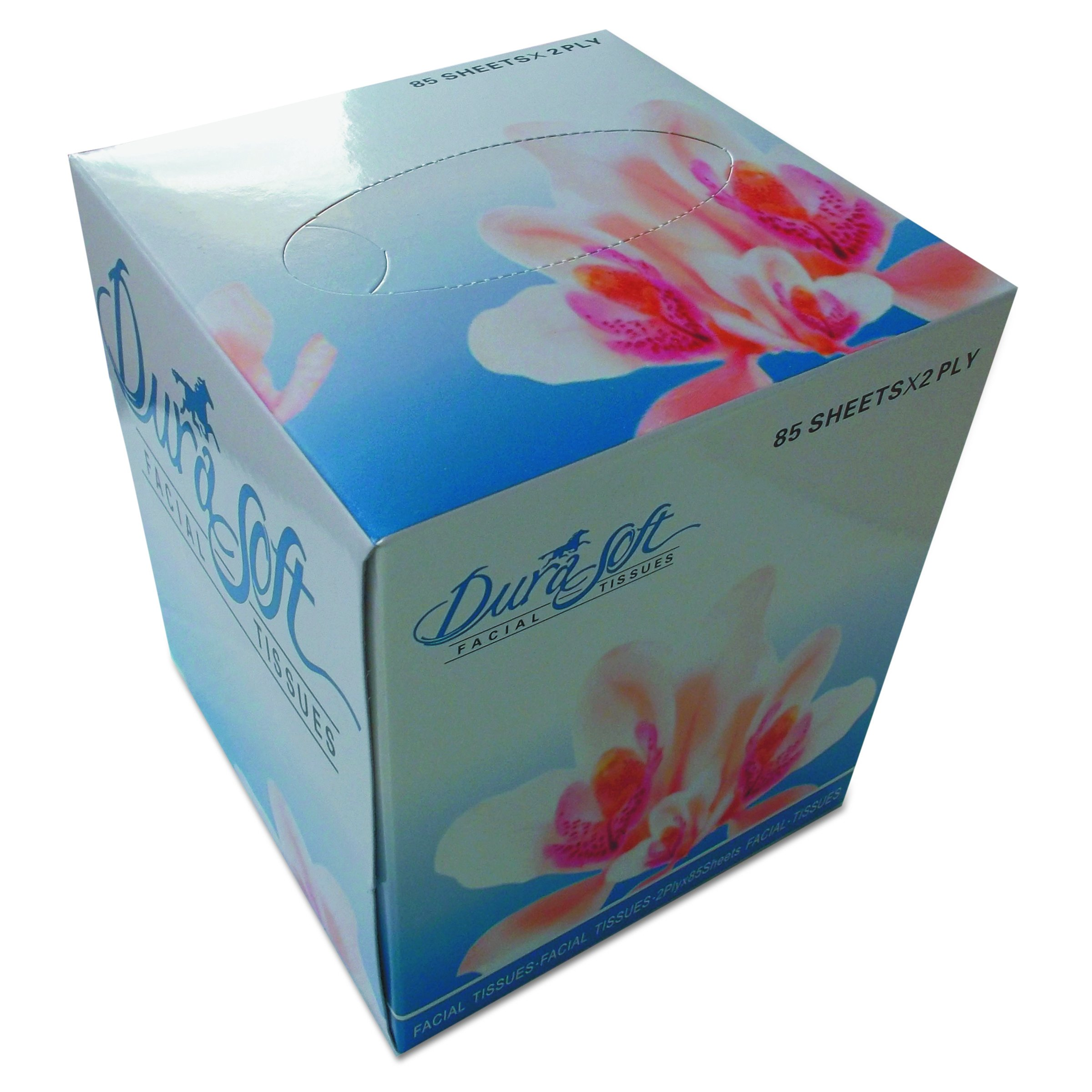 GEN 852D Facial Tissue Cube Box, 2-Ply, White, 85 Sheets/Box, 85 per Box (Case of 36 Boxes)
