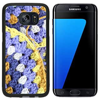 Liili Samsung Galaxy S7 Edge Aluminum Backplate Bumper Snap Case iPhone6 IMAGE ID 32461766 Crocheting crochet hook making an afghan blanket in shades of blues and browns