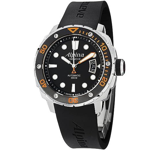 Alpina 33025 - Reloj para hombres, correa de goma color negro: Amazon.es: Relojes