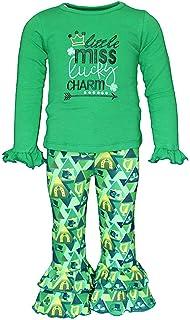 Amazon.com  So Sydney Girls Lucky Girl Green Shamrock St. Patrick s ... dce4f906b8e4