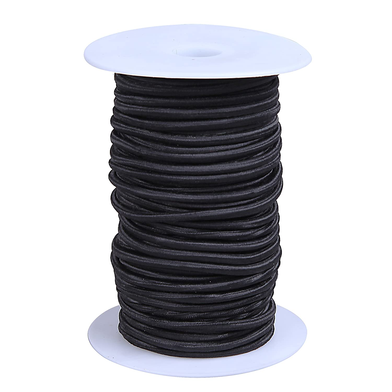 Black Color 10kg x 100ft Cartman 1//8 Elastic Cord Crafting Stretch String with Various Colors