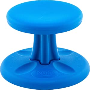 Kore Wobble Chair - Flexible Seating Stool for Toddlers, Age Range 2-3, Now with Antimicrobial Protection - Blue (10in Tall)