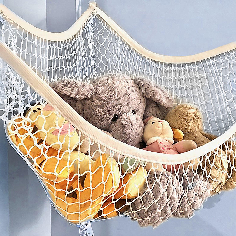 Scoot 'n Play Stuffed Animal Hammock   76 cm x 55 cm x 56 cm   Toy Storage Basket   Toy Box   Stuffed Animal Toy Hammock   Nursery Organizer   Toy Storage Organizer   Toy Bin Spring Rain Textiles