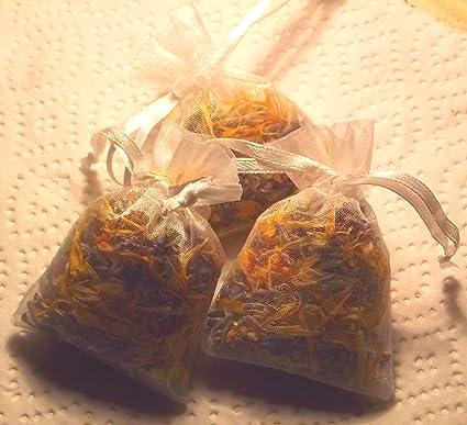 12 x lavanda y Caléndula flores secas en pequeñas bolsas de ...