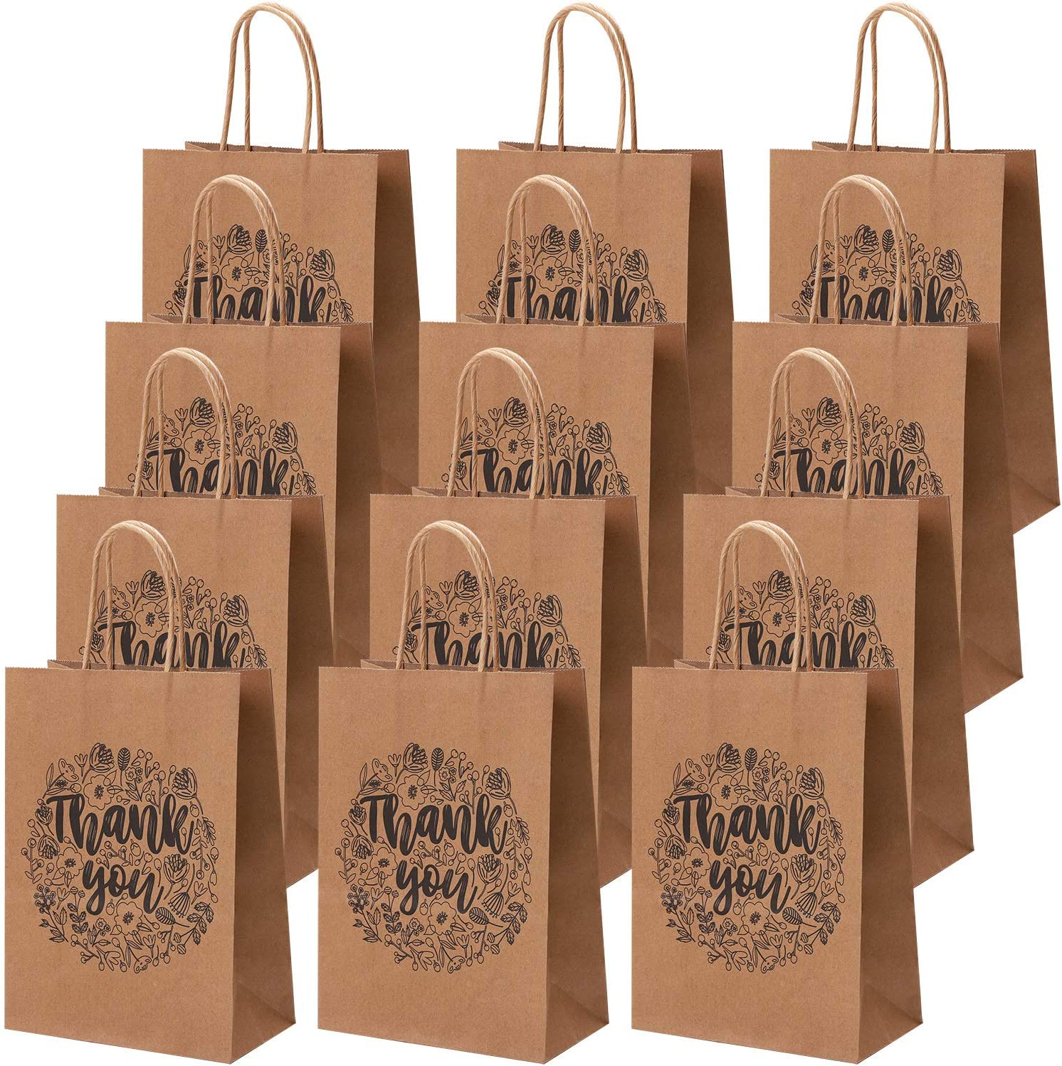 Brown Square Paper Party Gift Bags /& Tissue Wrap ~ Boutique Shop Loot Bag