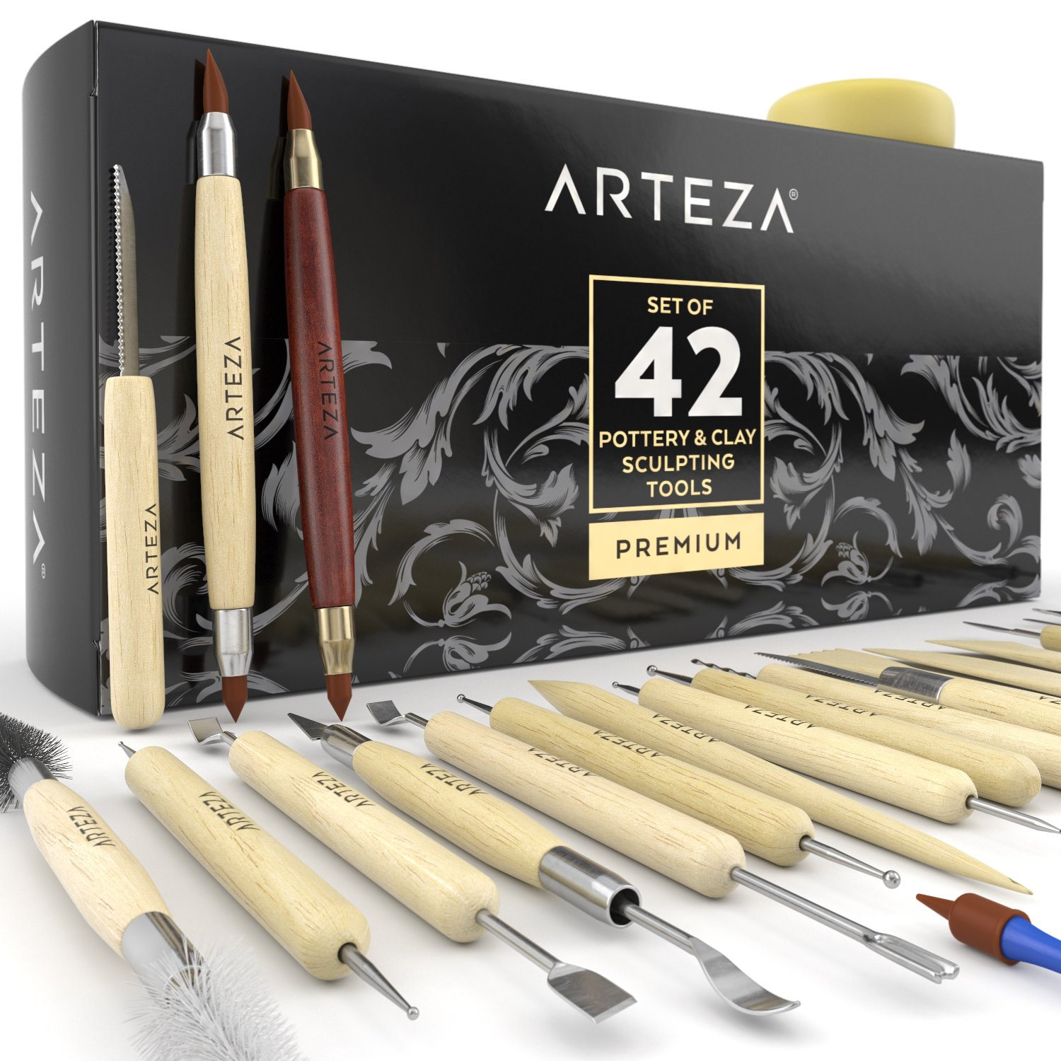 Arteza Pottery & Clay Sculpting Tools (Set of 42) ARTZ-8060