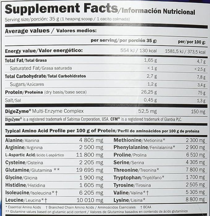 Amix - Proteína Whey Pure Fusion - Suplemento Alimenticio - Mejora del Rendimiento - Contiene Aminoácidos Bcaa - Glutamina en Polvo - Nutrición ...