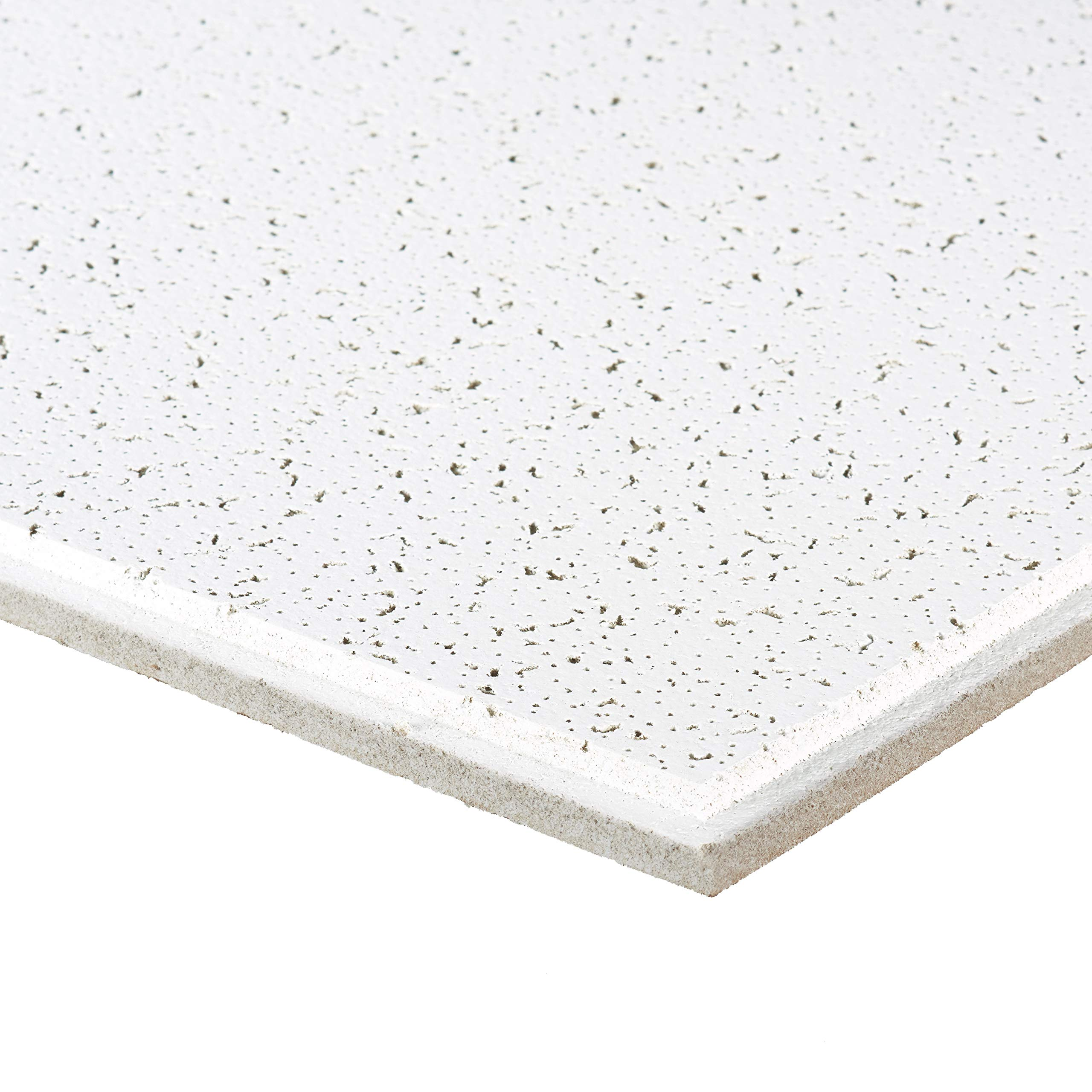 Armstrong Ceiling Tiles; 2x2 Ceiling Tiles - Acoustic Ceilings for Suspended Ceiling Grid; Drop Ceiling Tiles Direct from the Manufacturer; CORTEGA Item 704 - 16 pc White Tegular by Armstrong (Image #2)