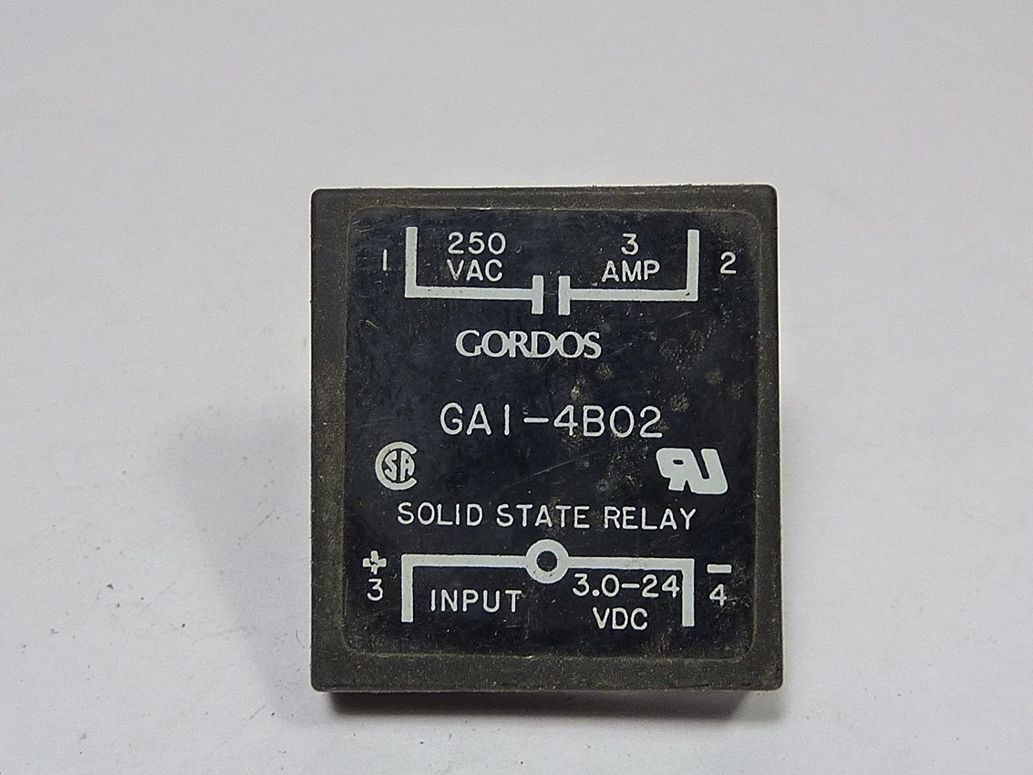 Gordos Ga1 4b02 Solid State Relay 3a 250vac 3 24 Vdc Industrial Scientific