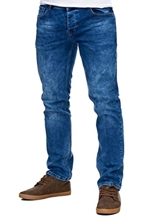 Reslad Jeans-Herren Slim Fit Basic Style Stretch-Denim Jeans-Hose RS ... 8dedeaca68