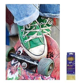 Plástico Carpeta Con Cierre De Goma Skater Para Din A3 Carpeta De