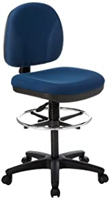 Lorell Adjustable Multi-Task Stool, 24 by 24 by 40-1/2 by 50-1/2-Inch, Blue
