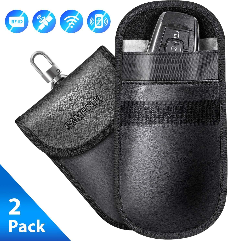 POWR 2x RFID Signal Blocking Pouches Anti-Theft Faraday Bag Protect Car Key fobs