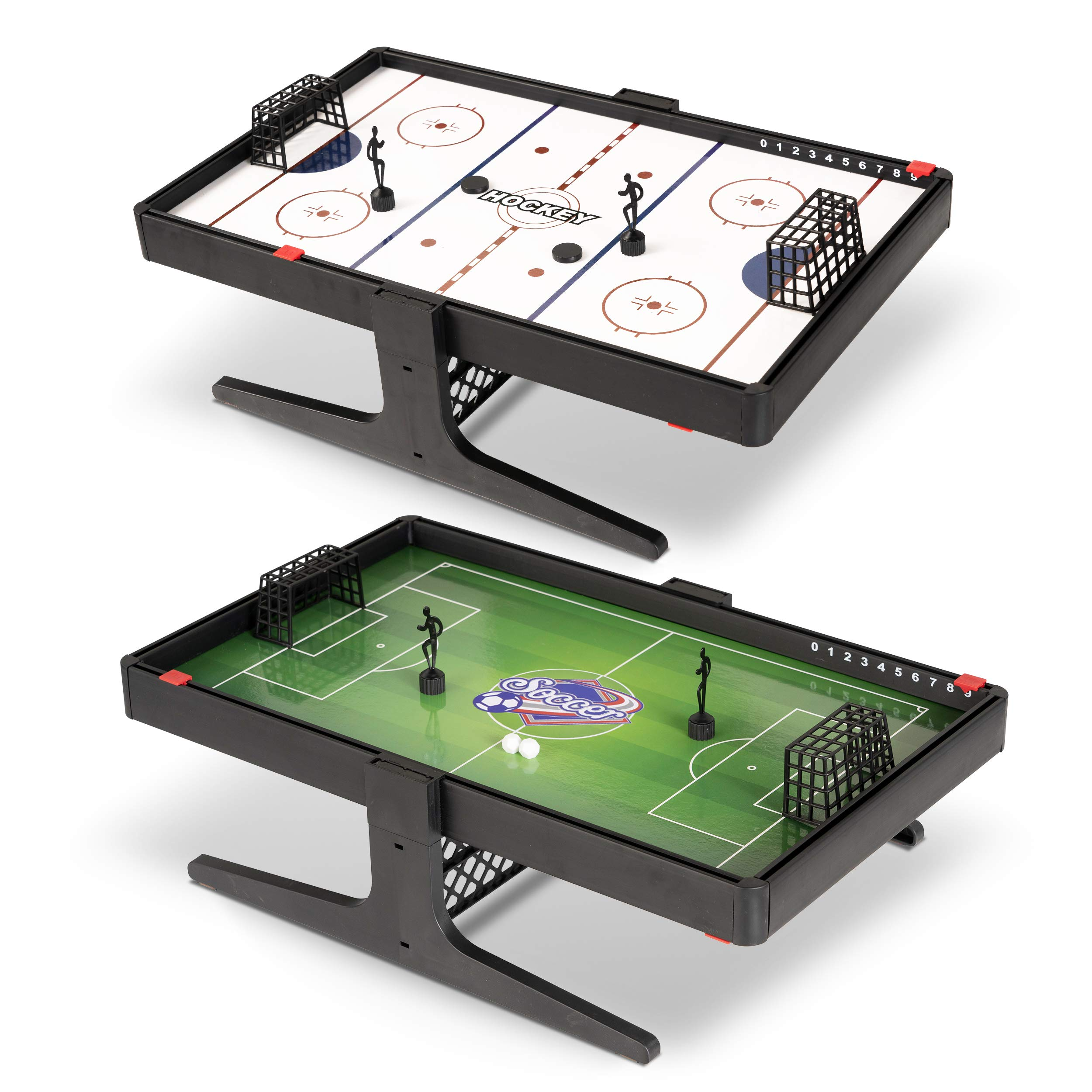 Sport Squad Flux Magnetic Reversible Soccer & Hockey Tabletop Multi Sport Game Set - Portable Mini Desktop Set - Great for Kids and Adults - Magnet Miniature Table Game by Sport Squad