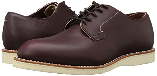 Zapato De Hombre De Oxford De Cartero De Red Wing UK8 EU42 US9 Merlot Mesa CwmLQr7cX