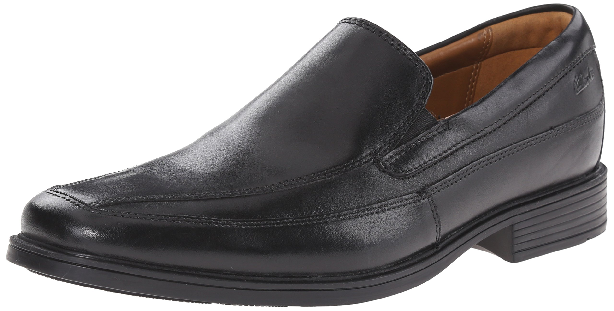 CLARKS Men's Tilden Free Slip-On Loafer, Black Leather, 10.5 M US