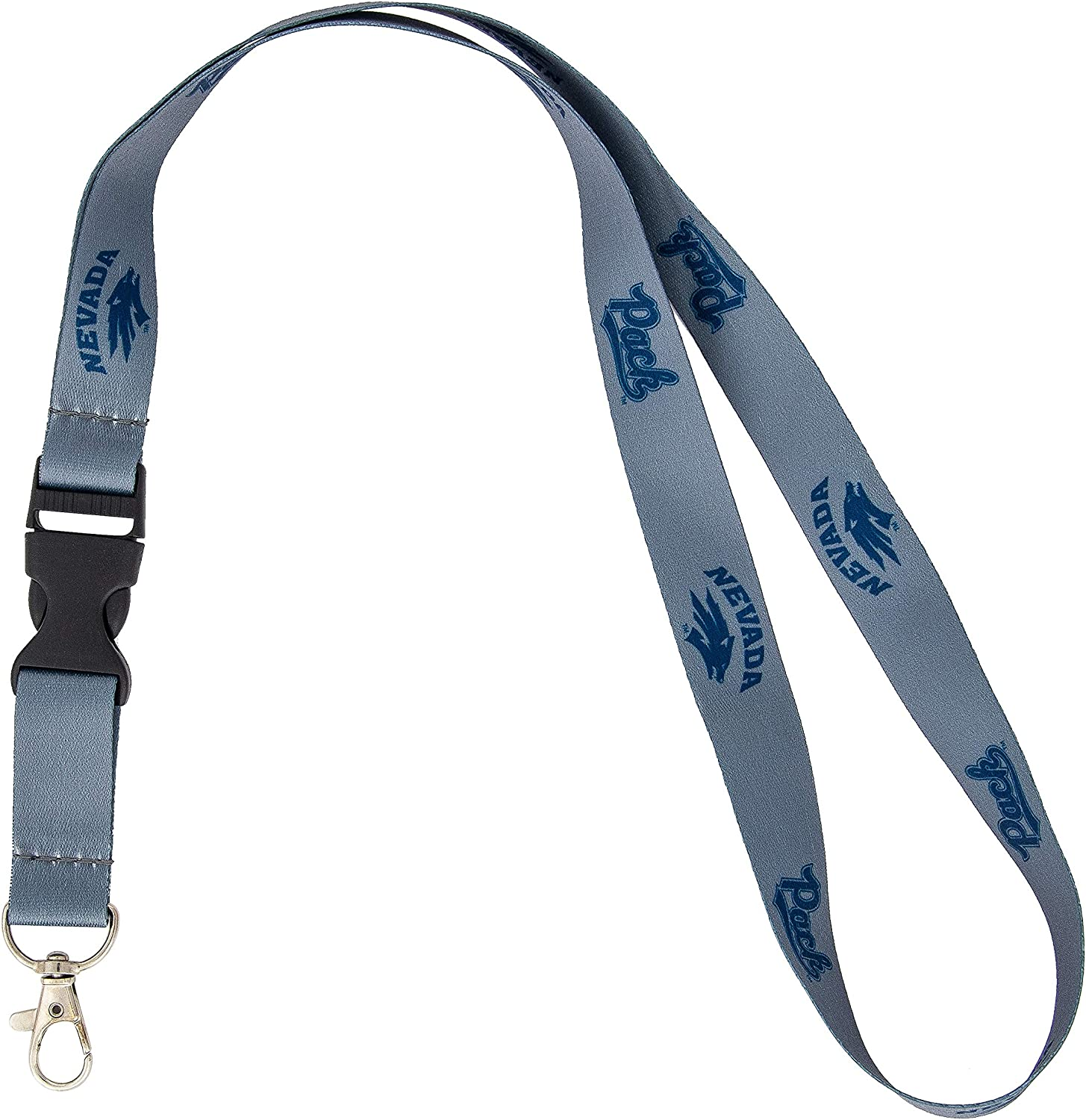 Nevada Wolf Pack I Love Pack Premium Lanyard Key Chain with Detachable End