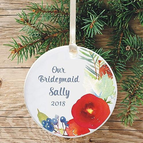 Amazon Com Personalized Ceramic Bridesmaid Keepsake Hanging Tree