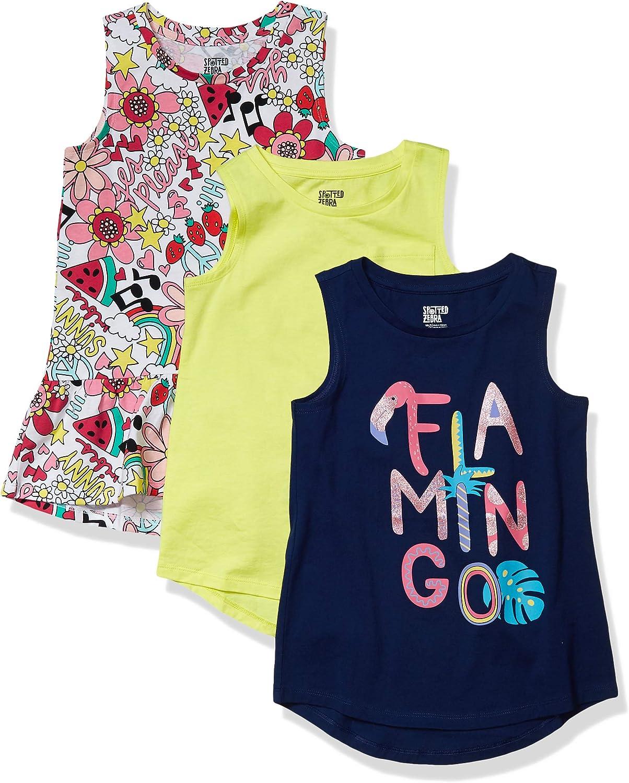 Confezione Da 3 Magliette Senza Maniche. Marchio tunic-shirts Bambina Spotted Zebra