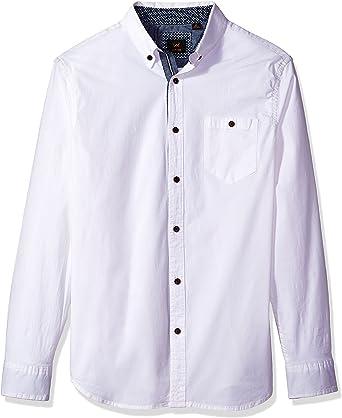 LEE Camisa de manga larga elástica para hombre, algodón elástico, regular, grande y alto: Amazon.es: Ropa y accesorios