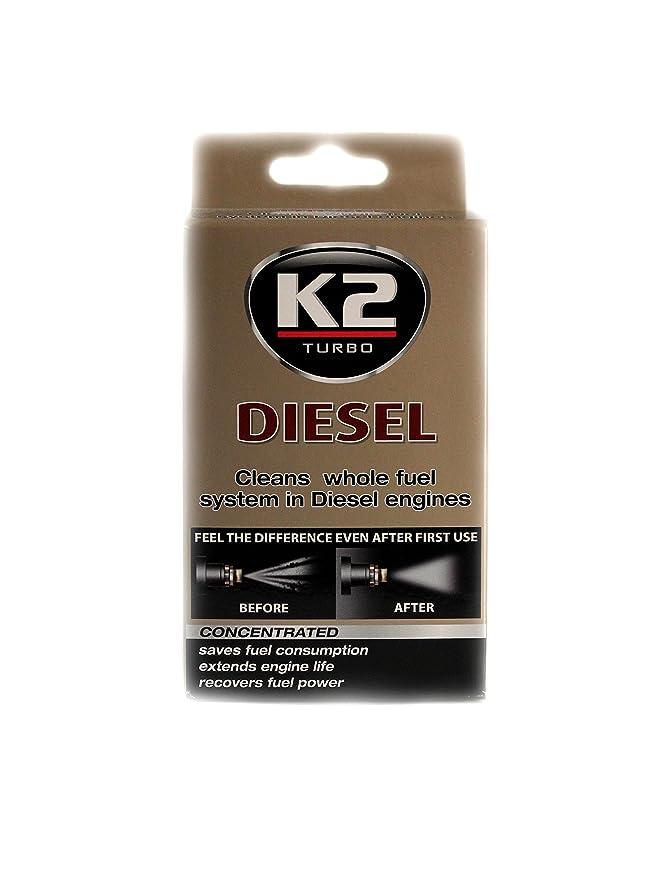 K2 Inyector Diesel Aditivo Concentrado Limpiador de Sistema de Combustible Motor Baja emisión 50 ML: Amazon.es: Coche y moto
