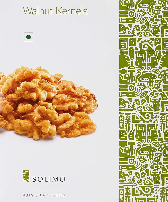 Amazon Brand - Solimo Premium Walnut Kernels, 500G