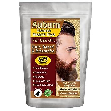 1 Pack Of Auburn Henna Beard Dye For Men 100 Natural Chemical Free Dye For Hair Beard