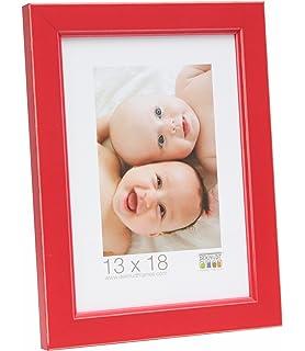 Deknudt Frames Marco de Fotos Color Rojo, Tamaño de Fotos: 8,92 cm