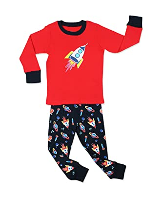 f440e9b6af176 elowel Bebe Garcon Grenouillere Fusee Spatiale Pyjama Bien Serre ...