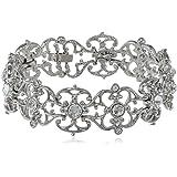 """Nina 'Lovett' Filigree Link Bracelet, 7.5"""""""