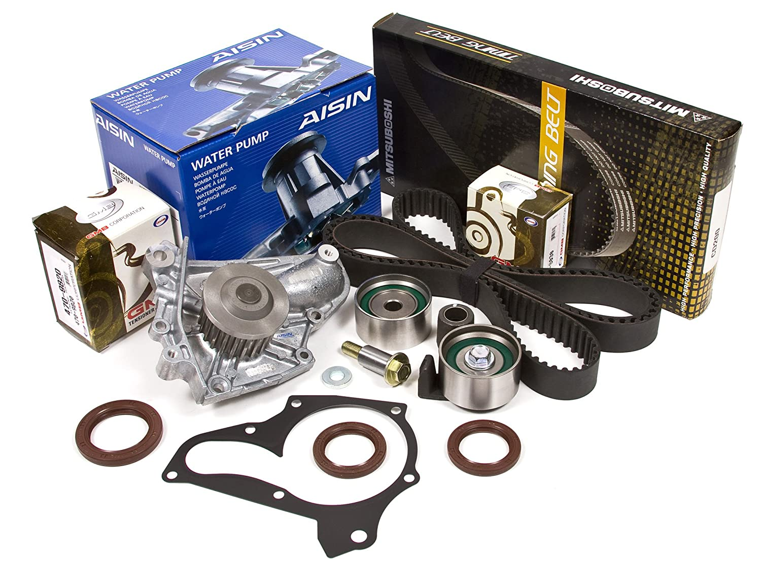 Evergreen tbk125mwpa 91 - 95 - Toyota Celica MR2 Turbo 2.0L DOHC 3SGTE Correa de distribución Kit Aisin Bomba de agua: Amazon.es: Coche y moto