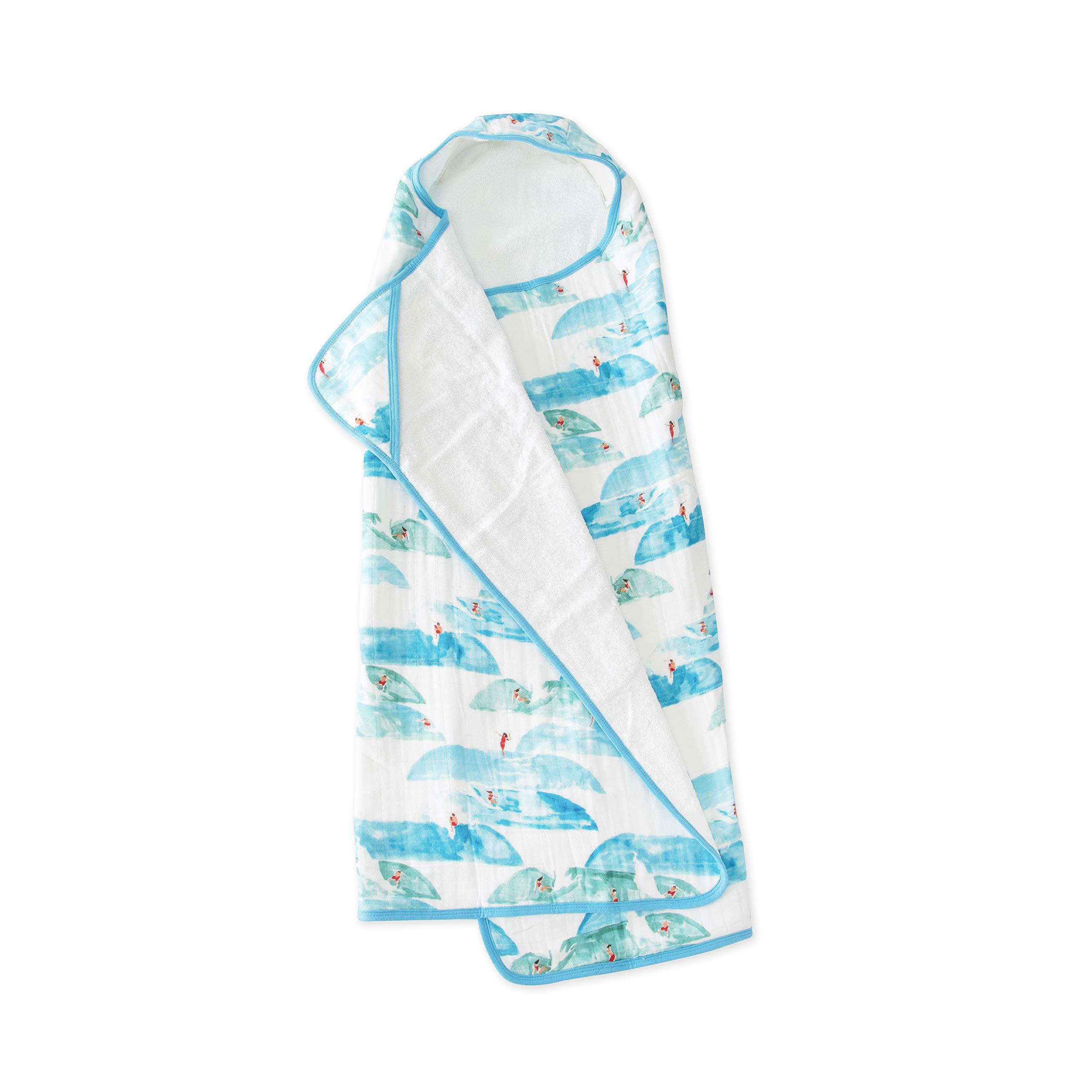 Little Unicorn Large Cotton Hooded Towel - Surf