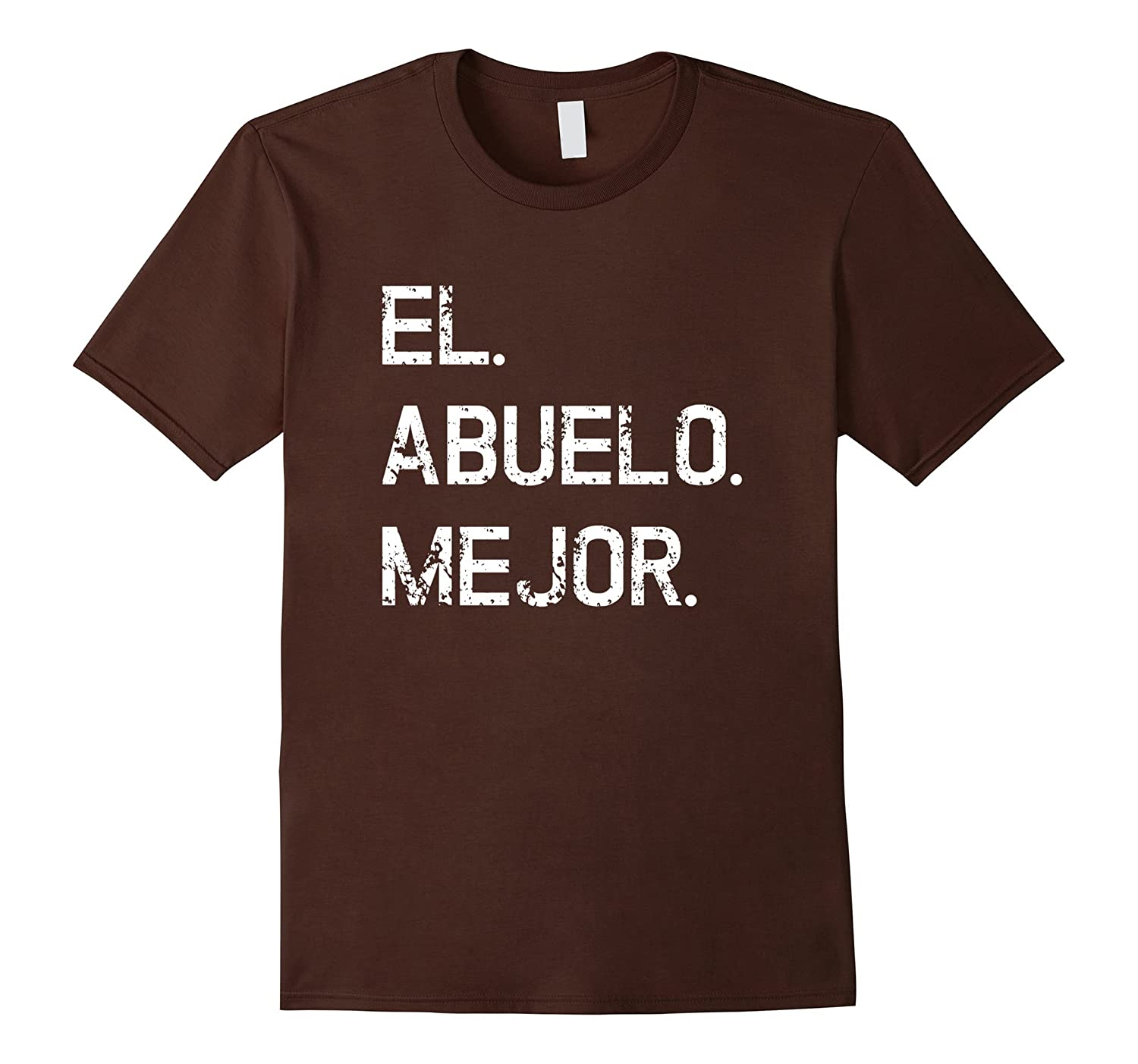 Mens Mens El Abuelo Mejor Spanish shirt for Best Grandpa Ever-Vaci