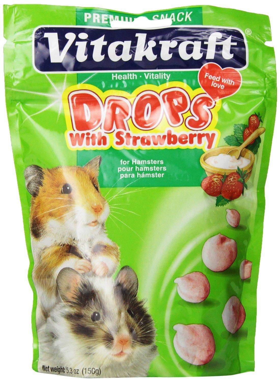 Vitakraft Strawberry Drops for Hamsters (2 Pack)