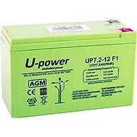 Master U-Power Batería Plomo AGM 7.2Ah 12V FASTON F1 4.8mm, UP, MU-UP7.2-12F1