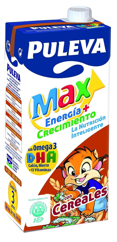 Puleva - Max Preparado Lácteo Energía Y Crecimiento Con Cereales, 1 L: Amazon.es: Alimentación y bebidas