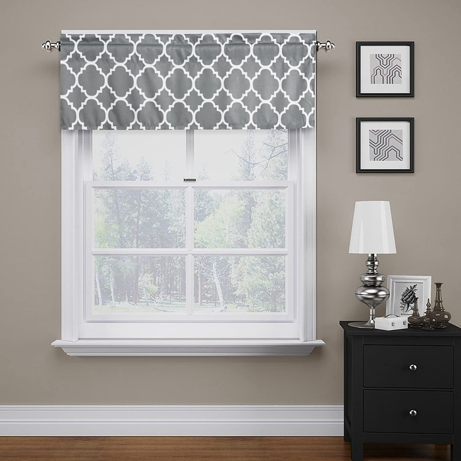 Gray Kitchen Valances: Gray Valance 52X18 Curtain Extra Wide For Kitchen Living