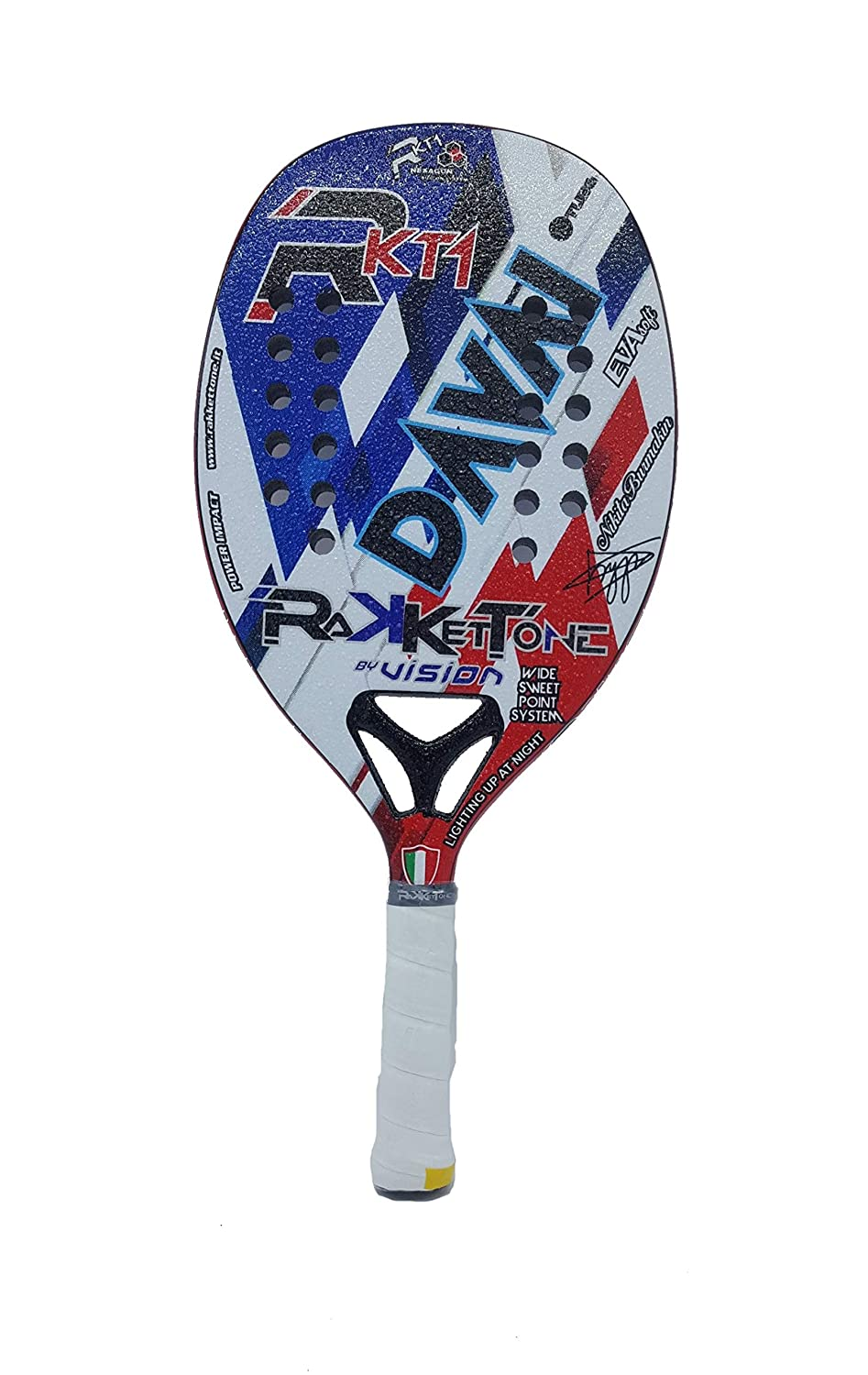 Amazon.com : Rakkettone Racket Racquet Beach Tennis Davai 2019 : Sports & Outdoors