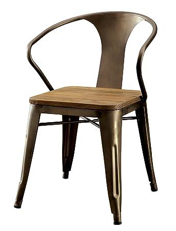 Fantastic Amazon Com Furniture Of America Cadiz Industrial Dining Alphanode Cool Chair Designs And Ideas Alphanodeonline