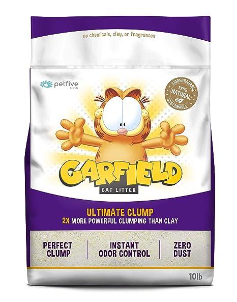Amazon.com: Garfield gato duro terrones para arena de gato ...