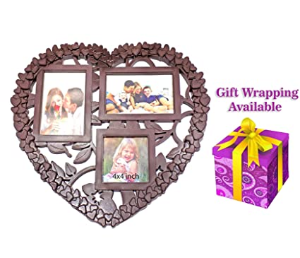 Buy Kabello Gift Items Wedding Birthday And Diwali Gifts For Family Friends Pack Of 1 Heart Shape Photo Frame M15 Online At Low Prices In