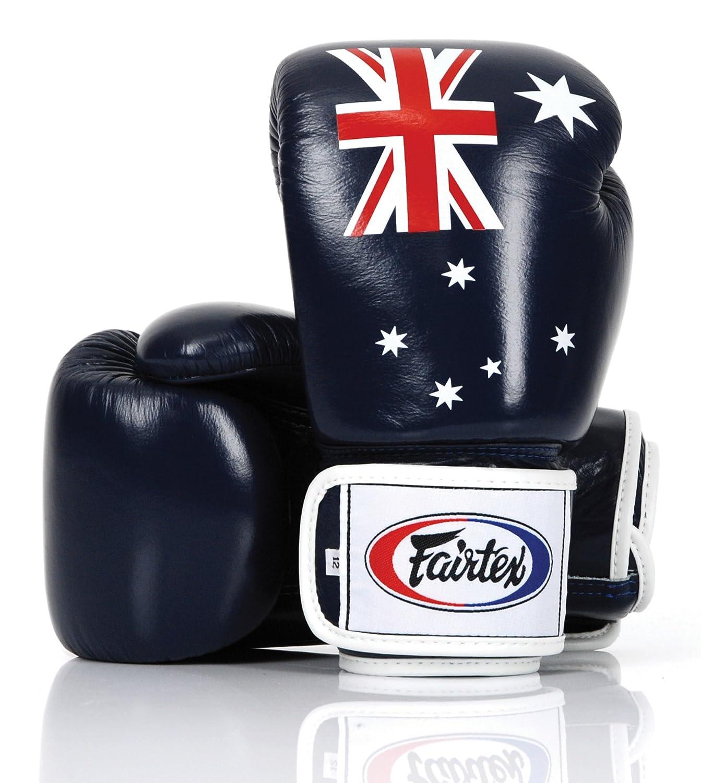 Fairtex本オーストラリアフラグボクシンググローブLimited Edition本革 B07BNQTVZ4  16.0 オンス