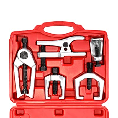 Orion Motor Tech 5-in-1 Ball Joint Separator Tie Rod End Remover Pitman Arm Puller Service Splitter Removal Tool Kit: Automotive