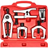Orion Motor Tech 5-in-1 Ball Joint Separator, Pitman Arm Puller, Tie Rod End Tool Set for Front End Service, Splitter…