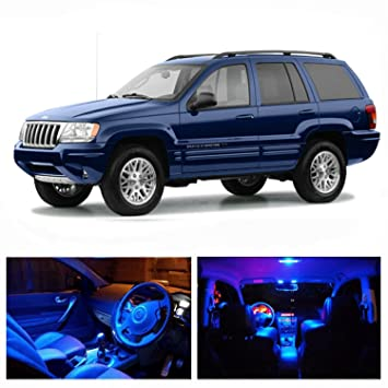 Amazon.com: LED Blue Lights Interior Package Kit For Jeep Grand Cherokee  1999 2004 (13 Pcs): Automotive