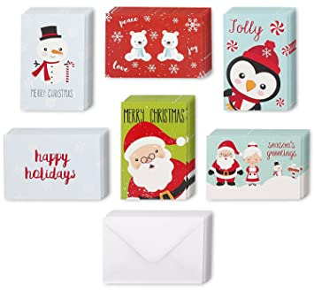 Amazon juvale 48 pack with envelopes assorted holiday juvale 48 pack with envelopes assorted holiday christmas greeting cards festive classic character designs m4hsunfo
