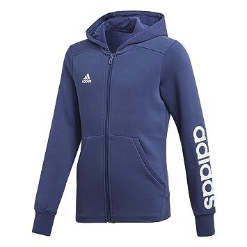 adidas Girl s Essentials 3-Stripes Mid Hoodie, Noble Indigo White, ... 9db9247ebf