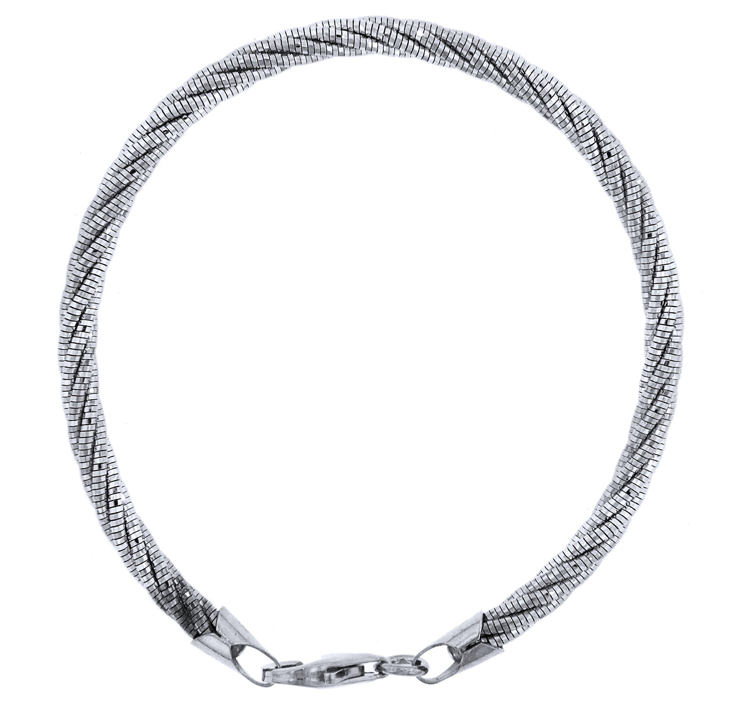 Officina Bernardi Sterling Silver 5 Row Spring Bracelet (8)