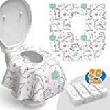 Toilet Seat Covers Disposable - 20 Pack - Waterproof, Ideal for Kids and Adults – Extra Large, Individually Wrapped for…
