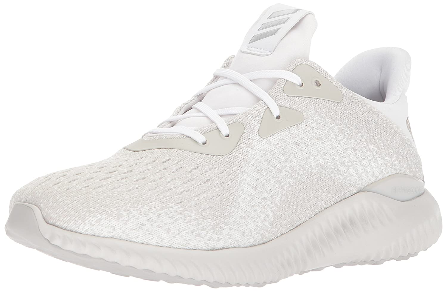 adidas Men's Alphabounce Em M Running Shoe B071F7W3NM 7 D(M) US|White/Metallic Silver/Legacy